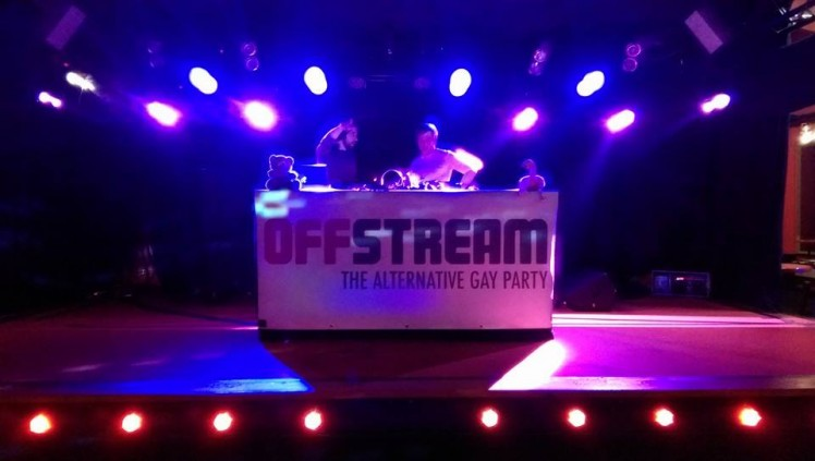 Offstream. Party ohne House und Elektro. Pure Alternative Gay Party.