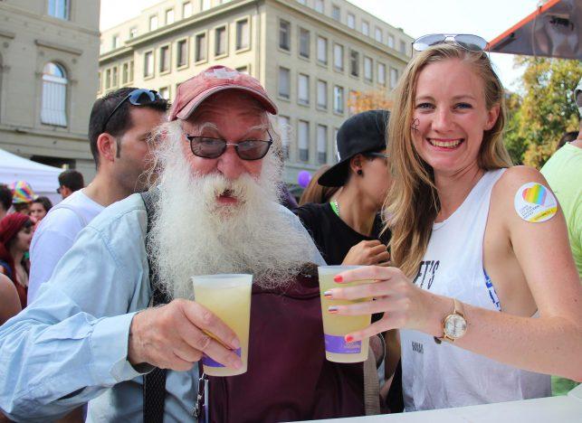 Ziel erreicht: Teen Age bis Golden Age fühlte sich an der Pride Ouest 2017 sichtbar wohl