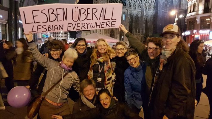 Lesbische Sichtbarkeit am EL*C-Lesbian March in Wien