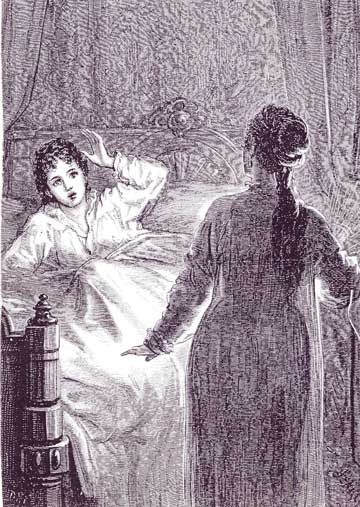 Le_Fanu_Carmilla_Laura_in_bed_szene_illustration_vampir_roman_fantasy_lesbisch